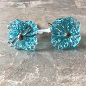 HP 🎉 NWT Anthropologie Floral Glass Drawer Pulls